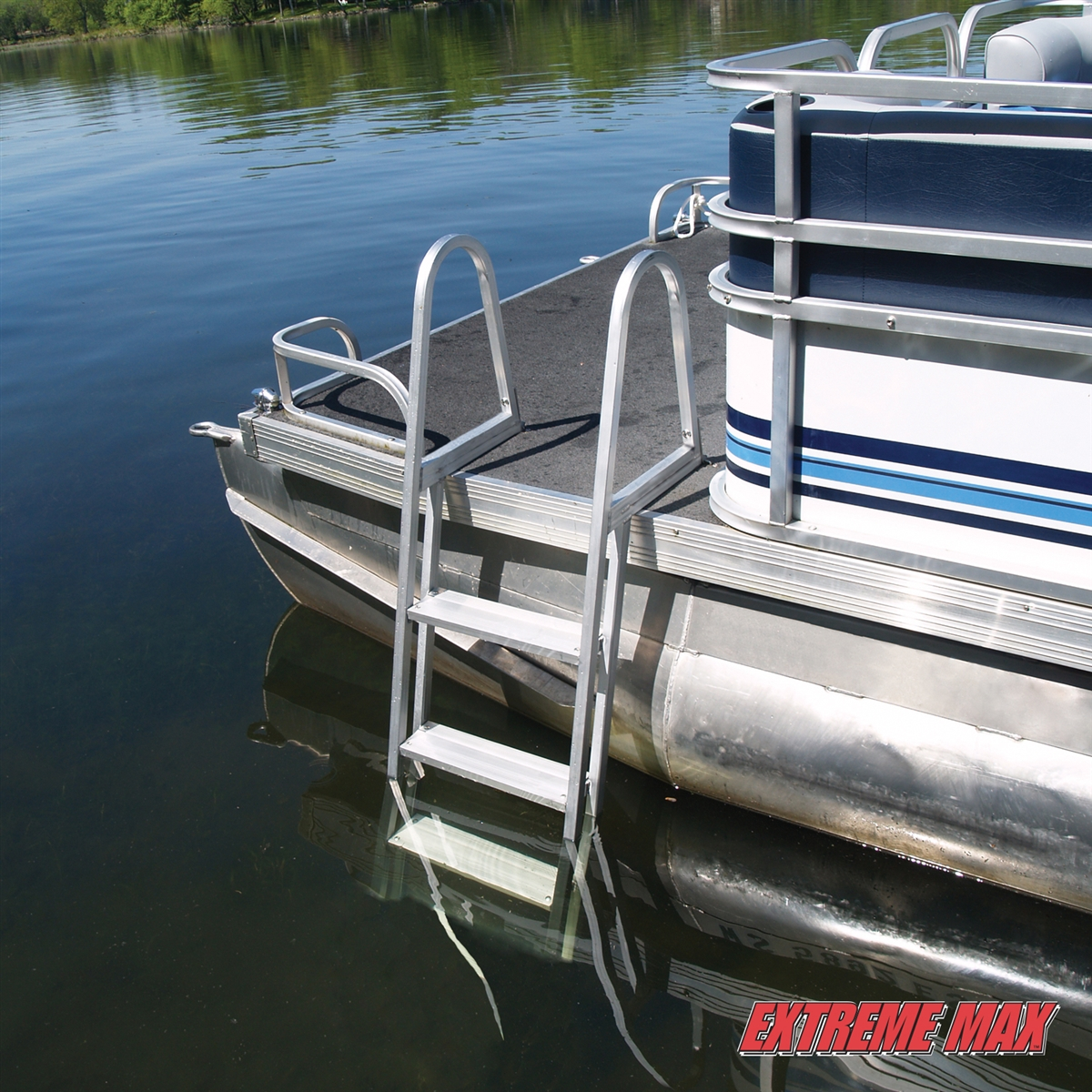Extreme Max 3005 3383 Aluminum Pontoon Dock Ladder 5 Step