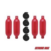 "Extreme Max 3006.7498 BoatTector Fender Value 4-Pack, 22"" - Bright Red"