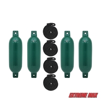 "Extreme Max 3006.7507 BoatTector Fender Value 4-Pack, 22"" - Forest Green"