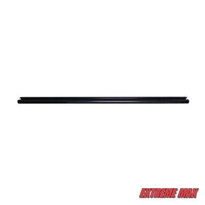 Extreme Max 3000.3124 Slider Trax Rails - Anodized Black, 4'