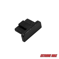 Extreme Max 3001.3352 Slider Trax - End Cap for Rail, Black