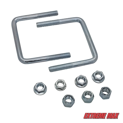 Extreme Max 3001.4130 Hardware Kit for High-Mount Spare Tire Carrier (3001.0064) - 4""