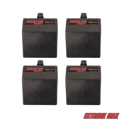 Extreme Max 3004.3100 Slider Trax 45° Multi-Fit Slider Base - Pack of 4