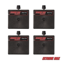 Extreme Max 3004.3156 Slider Trax Straight Multi-Fit Slider Base - Pack of 4