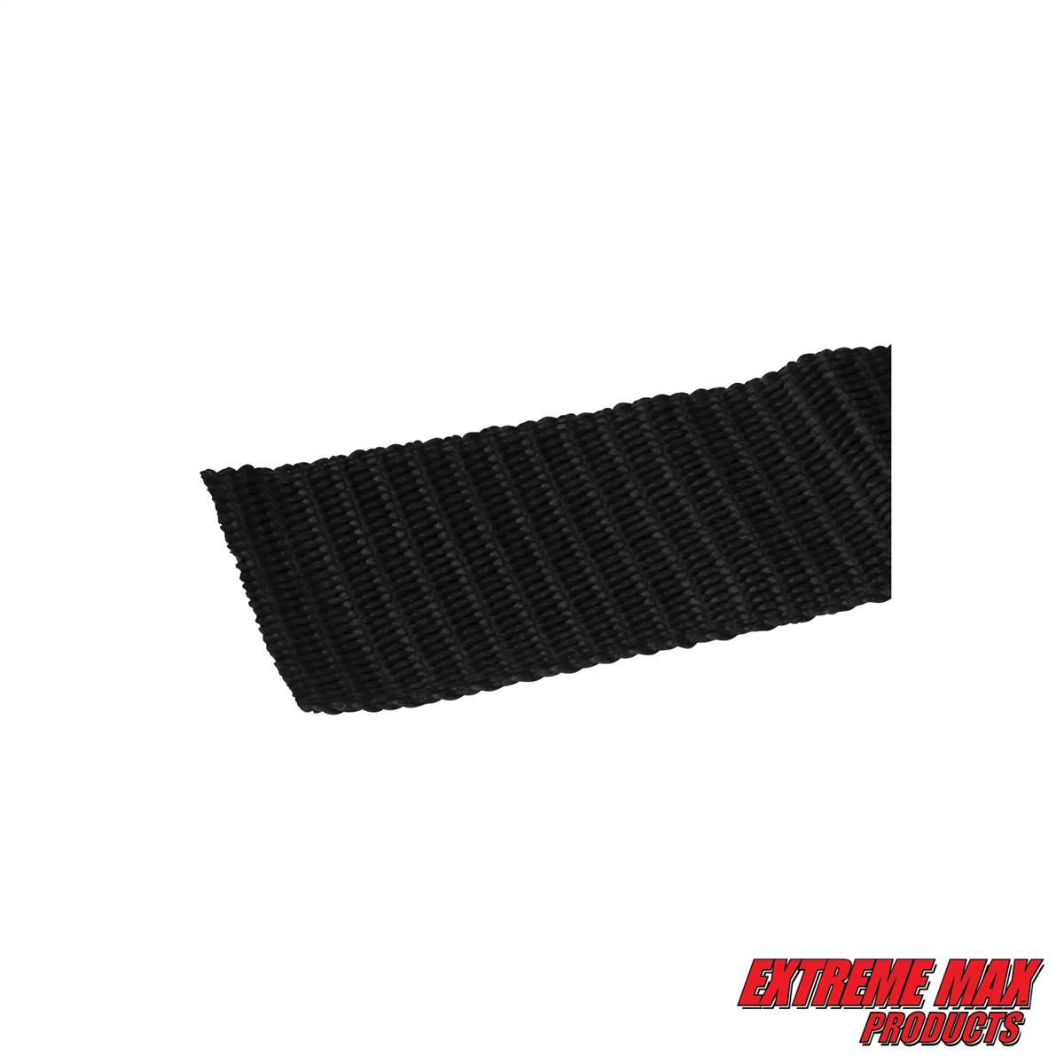 Pair Extreme Max 3005.1189 2 x 2 Transom Tie-Down Black Web