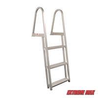 Extreme Max 3005.3377 Aluminum Pontoon/Dock Ladder - 3-Step