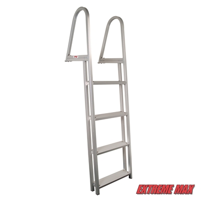 Extreme Max 3005.3380 Aluminum Pontoon/Dock Ladder - 4-Step