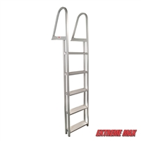 Extreme Max 3005.3383 Aluminum Pontoon/Dock Ladder - 5-Step