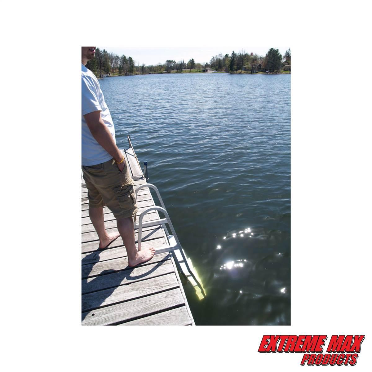 Extreme Max 3005 3383 Aluminum Pontoon/Dock Ladder - 5-Step