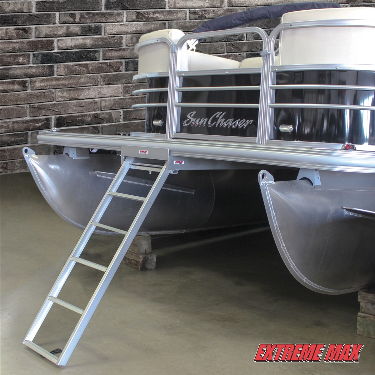 Extreme Max 3005 3430 Undermount Pontoon Ladder 226 5 Step