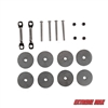 Extreme Max 3005.3455 Ladder Relocation Kit for Aluminum Pontoon/Dock Ladder