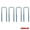 "Extreme Max 3005.3784 6"" U-Bolt 4-Pack for Pontoon Trailer Guide-On System (3005.3783)"