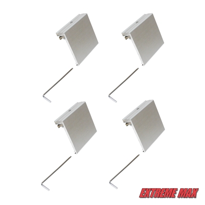 Extreme Max 3005.4113.4 Aluminum Slider Base for Crestliner SureMount Gunnel System - Pack of 4