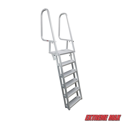 Extreme Max 3005.4122 Deluxe Flip-Up Dock Ladder - 6-Step