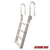 Extreme Max 3005.4227 Slanted Flip-Up Dock Ladder - 4-Step