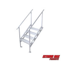 Extreme Max 3005.4251 Jumbo-Tread Universal Mount Dock Stairs with Railing - 4-Step