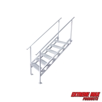 Extreme Max 3005.4281 Jumbo-Tread Universal Mount Dock Stairs with Railing - 6-Step