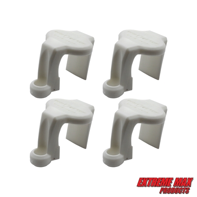 Extreme Max 3005.5064 BoatTector Pontoon Rail Fender Hanger/Adjuster - White, Pack of 4