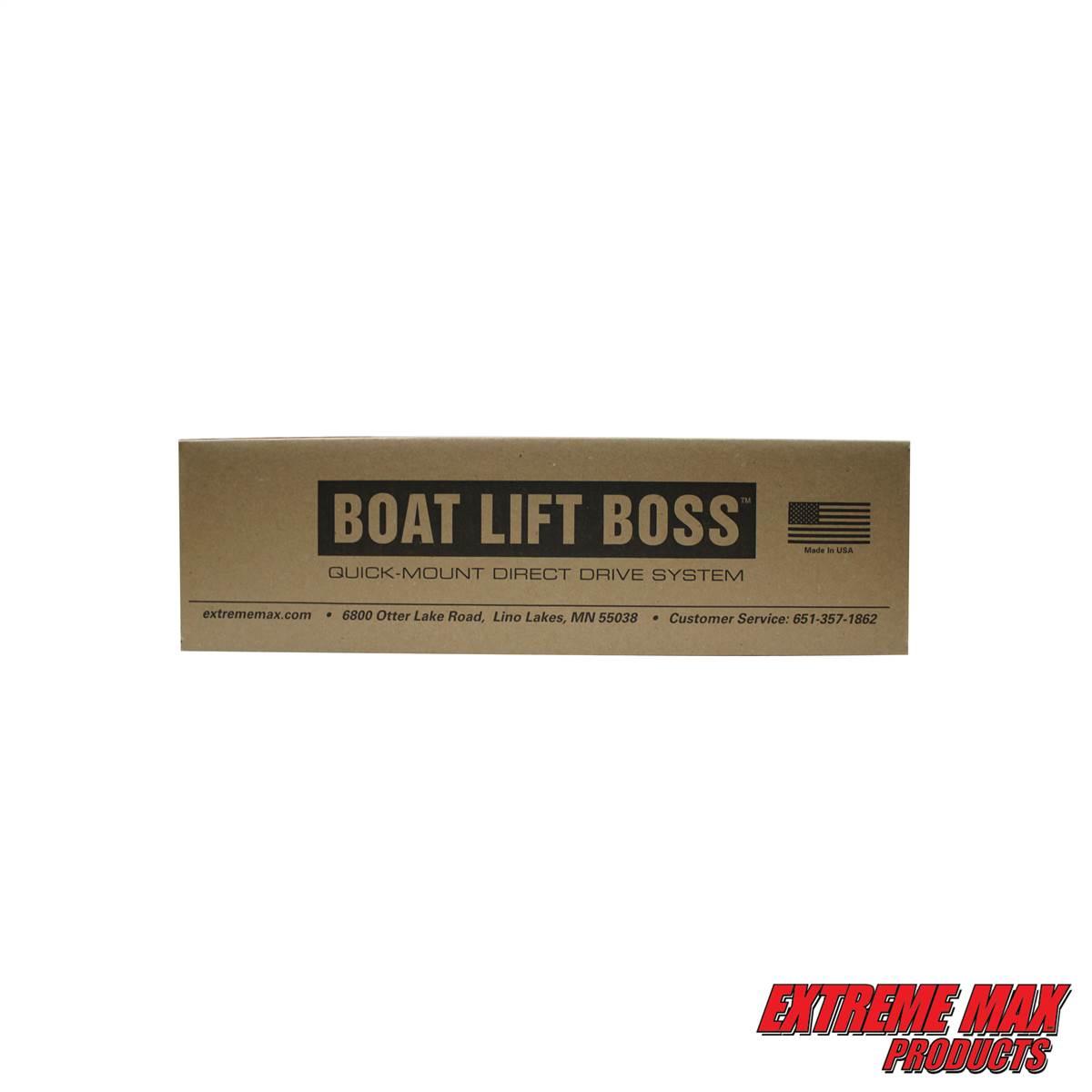 Boat Lift Boss Shore Station with Narrow Winch Installation Kit