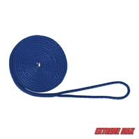 "Extreme Max 3006.2009 BoatTector 3/8"" x 15' Premium Solid Braid MFP Dock Line - Blue"