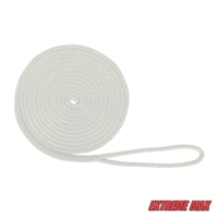 "Extreme Max 3006.2012 BoatTector 1/2"" x 20' Premium Solid Braid MFP Dock Line - White"