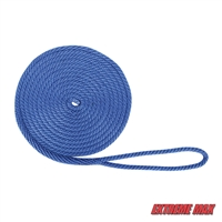 "Extreme Max 3006.2021 BoatTector 1/2"" x 20' Premium Solid Braid MFP Dock Line - Royal Blue"