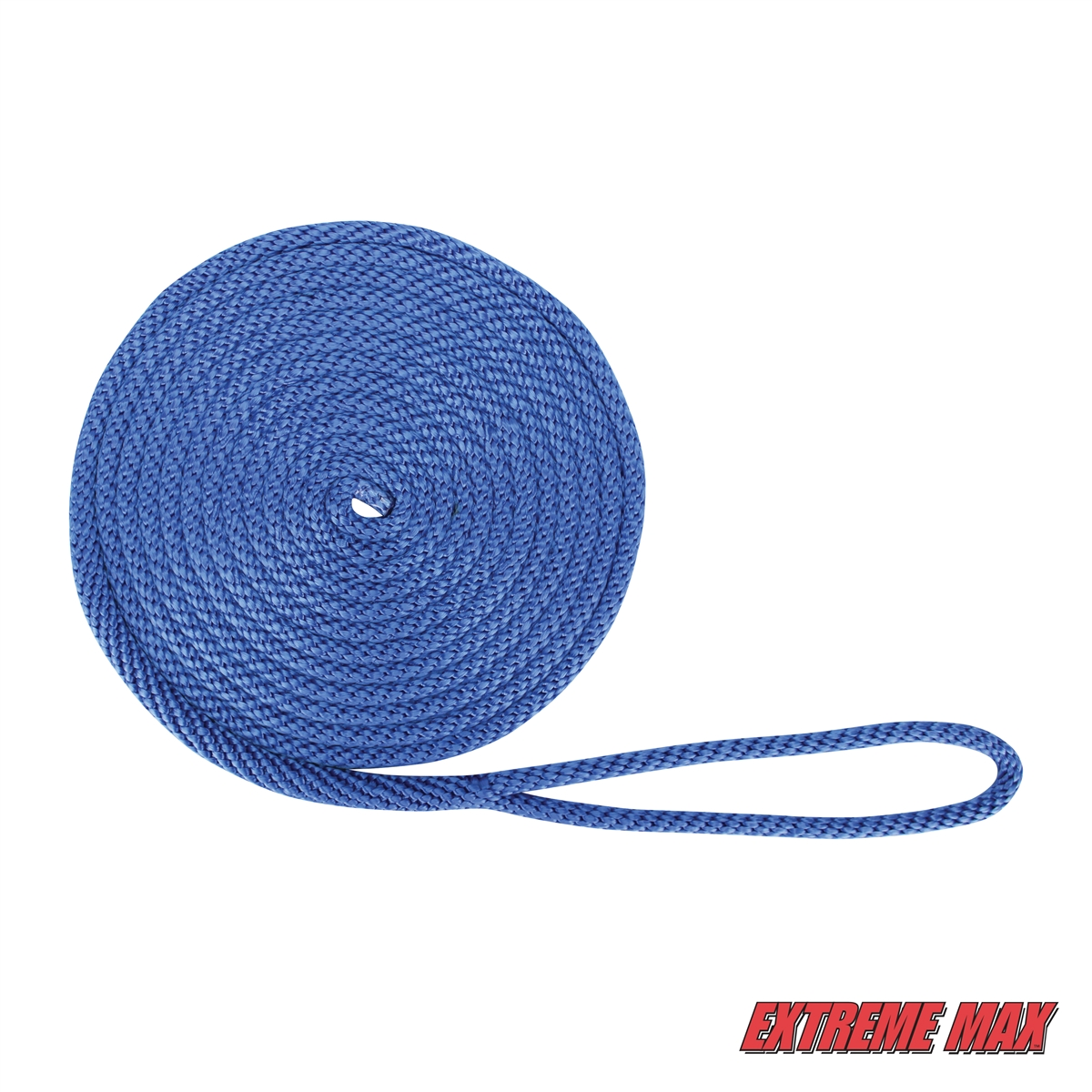 """1//2/"""" x 20/' Royal Blue Extreme Max BoatTector Solid Braid MFP Dock Line"""