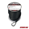 "Extreme Max 3006.2057 BoatTector 3/8"" x 100' Premium Solid Braid MFP Anchor Line with Thimble - Black"