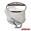 "Extreme Max 3006.2069 BoatTector 3/8"" x 50' Premium Hollow Braid Polypropylene Anchor Line - White"