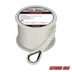"Extreme Max 3006.2075 BoatTector Premium Twisted Nylon Anchor Line with Thimble -  3/8"" x 50'"