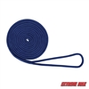 "Extreme Max 3006.2087 BoatTector 3/8"" x 15' Premium Double Braid Nylon Dock Line - Royal Blue"