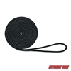"Extreme Max 3006.2117 BoatTector Double Braid Nylon Dock Line - 1/2"" x 20', Black"