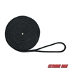 "Extreme Max 3006.2126 BoatTector Double Braid Nylon Dock Line - 1/2"" x 25', Black"