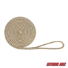 "Extreme Max 3006.2132 BoatTector 5/8"" x 25' Premium Double Braid Nylon Dock Line - White & Gold"