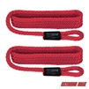 "Extreme Max 3006.2156 BoatTector Solid Braid MFP Fender Line Value 2-Pack - 3/8"" x 5', Red"