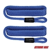 "Extreme Max 3006.2159 BoatTector 3/8"" x 5' Premium Solid Braid Nylon Fender Line Pair - Royal Blue"
