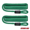 "Extreme Max 3006.2162 BoatTector Solid Braid MFP Fender Line Value 2-Pack - 3/8"" x 5', Forest Green"