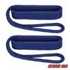 "Extreme Max 3006.2171 BoatTector 3/8"" x 6' Premium Double Braid Nylon Fender Line Pair - Royal Blue"