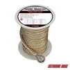 "Extreme Max 3006.2246 BoatTector 3/8"" x 150' Premium Double Braid Nylon Anchor Line with Thimble - White & Gold"