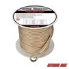 "Extreme Max 3006.2252 BoatTector 3/8"" x 250' Premium Double Braid Nylon Anchor Line with Thimble - White & Gold"