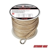 "Extreme Max 3006.2255 BoatTector 3/8"" x 300' Premium Double Braid Nylon Anchor Line with Thimble - White & Gold"