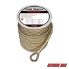 "Extreme Max 3006.2258 BoatTector 1/2"" x 150' Premium Double Braid Nylon Anchor Line with Thimble - White & Gold"