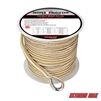 "Extreme Max 3006.2261 BoatTector 1/2"" x 200' Premium Double Braid Nylon Anchor Line with Thimble - White & Gold"