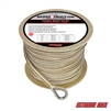 "Extreme Max 3006.2264 BoatTector 1/2"" x250' Premium Double Braid Nylon Anchor Line with Thimble - White & Gold"