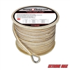 "Extreme Max 3006.2267 BoatTector 1/2"" x 300' Premium Double Braid Nylon Anchor Line with Thimble - White & Gold"