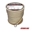 "Extreme Max 3006.2270 BoatTector 1/2"" x 600' Premium Double Braid Nylon Anchor Line with Thimble - White & Gold"
