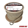 "Extreme Max 3006.2273 BoatTector 5/8"" x 200' Premium Double Braid Nylon Anchor Line with Thimble - White & Gold"