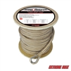 "Extreme Max 3006.2276 BoatTector 5/8"" x 250' Premium Double Braid Nylon Anchor Line with Thimble - White & Gold"