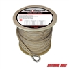 "Extreme Max 3006.2279 BoatTector 5/8"" x 300' Premium Double Braid Nylon Anchor Line with Thimble - White & Gold"
