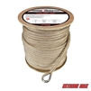 "Extreme Max 3006.2282 BoatTector 5/8"" x 600' Premium Double Braid Nylon Anchor Line with Thimble - White & Gold"